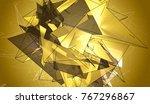polygonal gold mosaic...   Shutterstock . vector #767296867