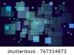 abstract square background.... | Shutterstock .eps vector #767314873