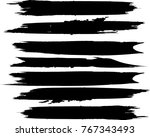 grunge paint stripe . vector... | Shutterstock .eps vector #767343493