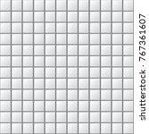 white tiles vector texture. | Shutterstock .eps vector #767361607