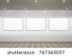 three blank horizontal... | Shutterstock . vector #767365057