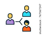 organization icon vector.... | Shutterstock .eps vector #767367247