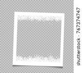 christmas square photo frame... | Shutterstock .eps vector #767374747
