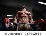 sexy strong bodybuilder... | Shutterstock . vector #767412553