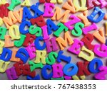 Colorful Letters Background