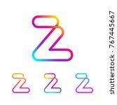 abstract letter z line monogram ... | Shutterstock .eps vector #767445667