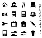 origami style icon set   family ... | Shutterstock .eps vector #767457307