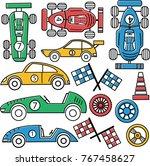 racer championship vector set.... | Shutterstock .eps vector #767458627