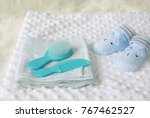 items for newborn babies on the ... | Shutterstock . vector #767462527