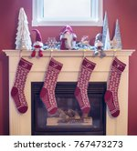 Hand Knit Christmas Stocking...