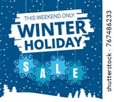 winter holiday sale promo ads.... | Shutterstock .eps vector #767486233