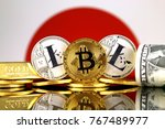 physical version of bitcoin ... | Shutterstock . vector #767489977