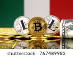 physical version of bitcoin ... | Shutterstock . vector #767489983