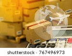 small papers boxes and... | Shutterstock . vector #767496973