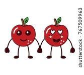 apples happy and in love fruit... | Shutterstock .eps vector #767509963