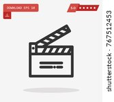 clapperboard vector icon | Shutterstock .eps vector #767512453
