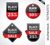 black friday  sale and special... | Shutterstock .eps vector #767542573