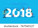 happy new year concept card.... | Shutterstock . vector #767565127