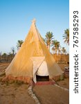 native american indian tipi tent | Shutterstock . vector #767585293