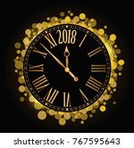 vector shiny new year 2018...   Shutterstock .eps vector #767595643