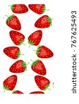 seamless pattern with ripe ... | Shutterstock .eps vector #767625493