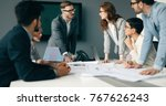 business meeting and teamwork... | Shutterstock . vector #767626243