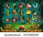 playing field slots game for... | Shutterstock .eps vector #767630203