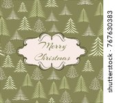 template of christmas greeting... | Shutterstock .eps vector #767630383