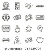 lottery or raffle icons thin... | Shutterstock .eps vector #767639707