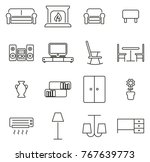 living room furniture icons... | Shutterstock .eps vector #767639773