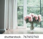 glorious pastel pink bouquet of ...   Shutterstock . vector #767652763