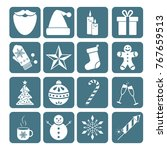 collection of christmas and new ... | Shutterstock .eps vector #767659513