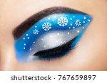 eye girl makeover snowflakes.... | Shutterstock . vector #767659897