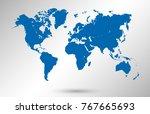 world map vector | Shutterstock .eps vector #767665693