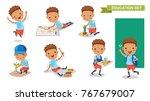 kindergarten children. of...   Shutterstock .eps vector #767679007