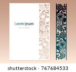 Card With Openwork Floral...