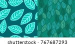 blue green seamless pattern... | Shutterstock .eps vector #767687293