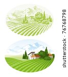 Hand Drawn Vector Landscape...
