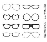 a set of glasses isolated.... | Shutterstock .eps vector #767695033