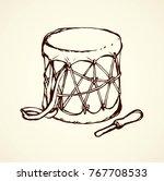 latin tribe ritual culture skin ... | Shutterstock .eps vector #767708533