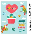 bright invitation card with... | Shutterstock .eps vector #767727337