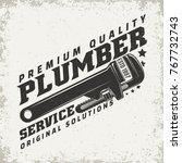 vintage logo graphic design ... | Shutterstock .eps vector #767732743