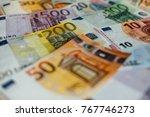 euro money. euro cash... | Shutterstock . vector #767746273