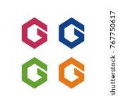 g logo initial letter design... | Shutterstock .eps vector #767750617