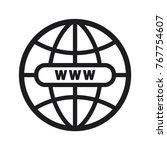 illustration world icon  globe... | Shutterstock .eps vector #767754607