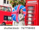 london tourist travel woman...   Shutterstock . vector #767758483