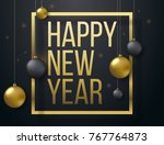 happy 2017 new year background... | Shutterstock .eps vector #767764873