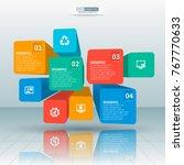 vector abstract 3d paper... | Shutterstock .eps vector #767770633