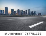 urban traffic road with... | Shutterstock . vector #767781193