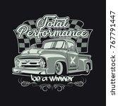 classic car illustration | Shutterstock .eps vector #767791447